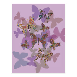 Butterfly Paisley Postcard