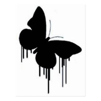 Butterfly pancakes postcard