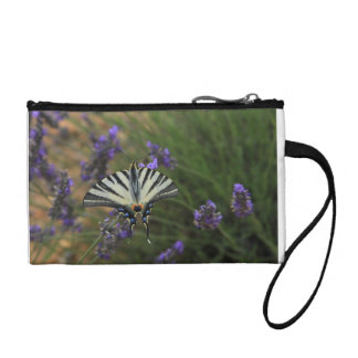 Butterfly - Papilio machaon on flowering lavender Coin Wallet