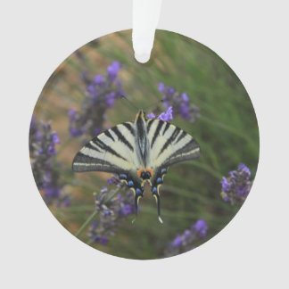 Butterfly - Papilio machaon on flowering lavender Ornament