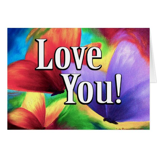 Butterfly Parade Love Colors Art - Multi Greeting Card
