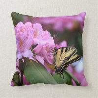 Butterfly Paradise Throw Pillow