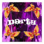 Butterfly Party Invitation 13 Cm X 13 Cm Square Invitation Card