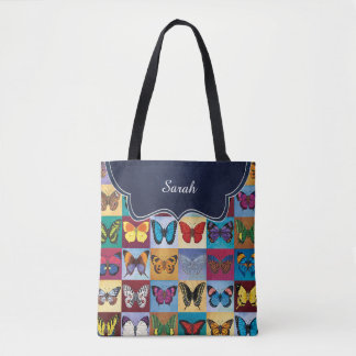 Butterfly Patch Customized Tote Bag