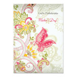"""Butterfly Patch Mother's Day Invitation 5"""" X 7"""" Invitation Card"""