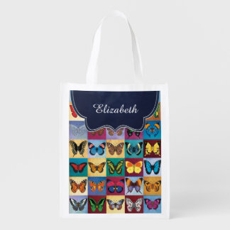 Butterfly Patchwork Customized Grocery Bag