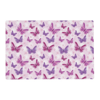 butterfly pattern 2 laminated placemat