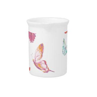 Butterfly  pattern. beverage pitchers