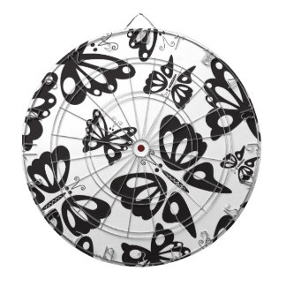 Butterfly Pattern - Black and White Dart Board