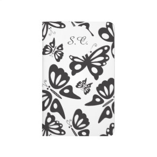 Butterfly Pattern - Black and White Journal