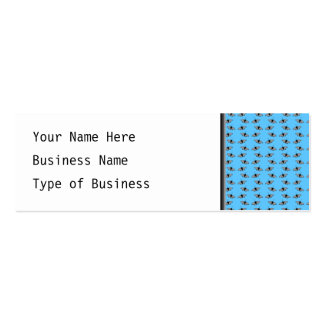 Butterfly Pattern. Blue. Double-Sided Mini Business Cards (Pack Of 20)