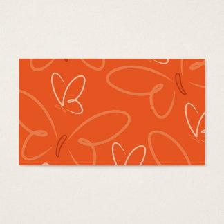Butterfly pattern business card