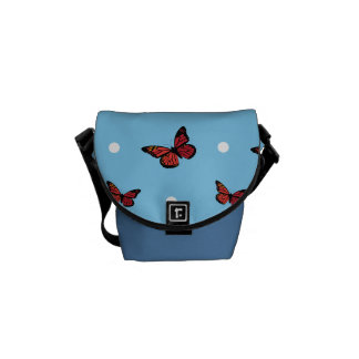 Butterfly pattern courier bag
