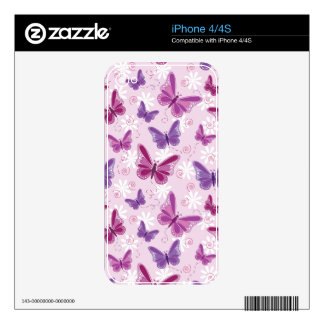 butterfly pattern decals for the iPhone 4
