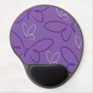 Butterfly pattern gel mouse pad