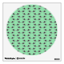 Butterfly Pattern. Green. Wall Decal