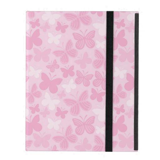 Butterfly pattern iPad folio cases