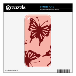 butterfly pattern iPhone 4 decal