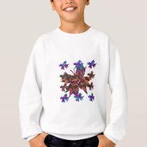 Butterfly Pattern Kids Sweatshirt
