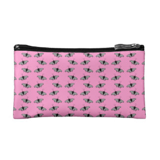 Butterfly Pattern on Pink. Cosmetic Bag