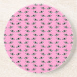 Butterfly Pattern on Pink. Coasters