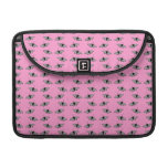 Butterfly Pattern on Pink. Sleeve For MacBooks