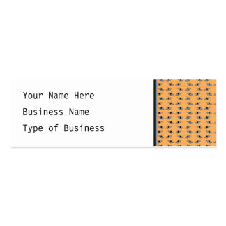Butterfly Pattern. Orange. Double-Sided Mini Business Cards (Pack Of 20)
