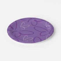 Butterfly pattern paper plate