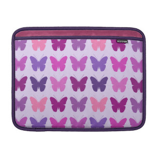 Butterfly Pattern Pinks Purple Mauve Lilac MacBook Air Sleeve
