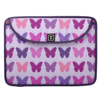 Butterfly Pattern Pinks Purples Mauves Lilac MacBook Pro Sleeve