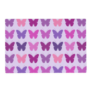 Butterfly Pattern Pinks Purples Mauves Lilac Placemat