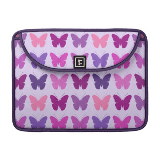 Butterfly Pattern Pinks Purples Mauves Lilac Sleeve For MacBook Pro