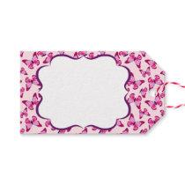 Butterfly Pattern Pretty Pink Purple Gift Tags