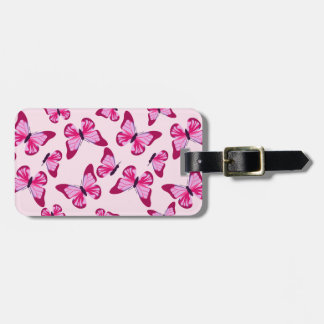Butterfly Pattern Pretty Pink Purple Tag For Luggage