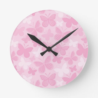 Butterfly pattern round clock