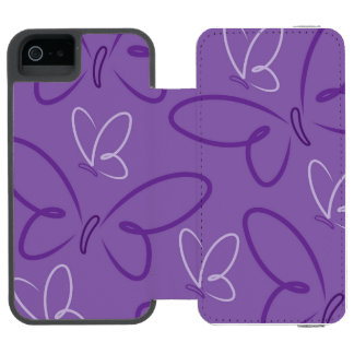 Butterfly pattern wallet case for iPhone SE/5/5s