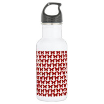 Butterfly pattern water bottle