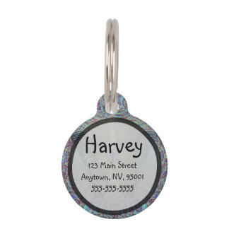 Butterfly Pattern with Tree of Life Pet ID Tag