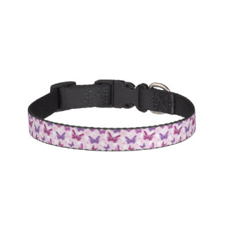 butterfly pattern dog collar