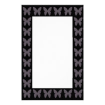 Butterfly Patterns Butterflies In Black And White Stationery