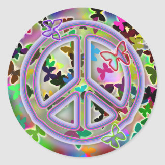Butterfly Peace Sign stickers