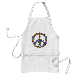 Butterfly Peace Symbol Adult Apron
