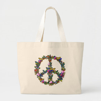 Butterfly Peace Symbol Jumbo Tote Bag
