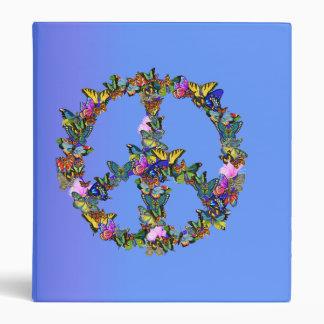 Butterfly Peace Symbol Binder