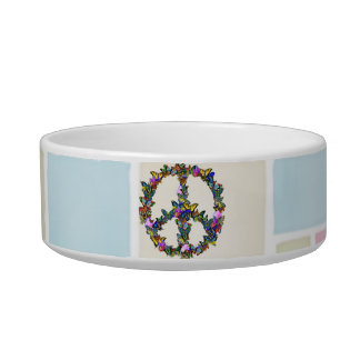 Butterfly Peace Symbol Bowl