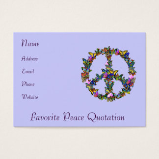 Butterfly Peace Symbol Business Card