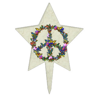 Butterfly Peace Symbol Cake Topper