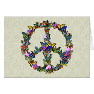 Butterfly Peace Symbol Greeting Cards