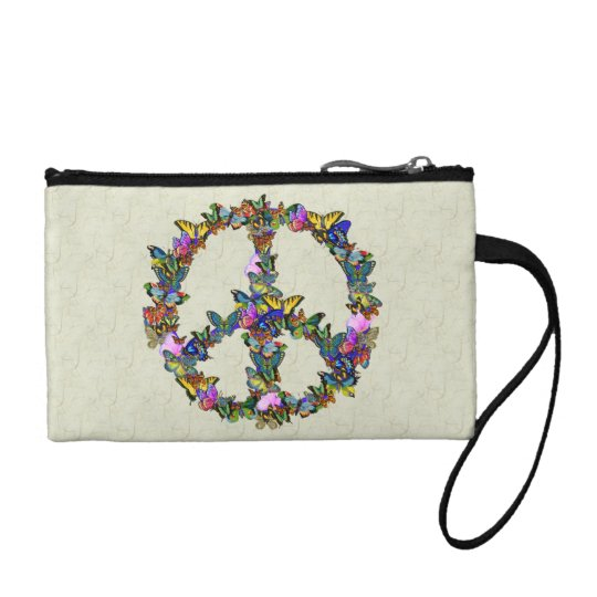 Butterfly Peace Symbol Coin Purse