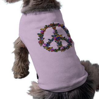 Butterfly Peace Symbol Dog Shirt